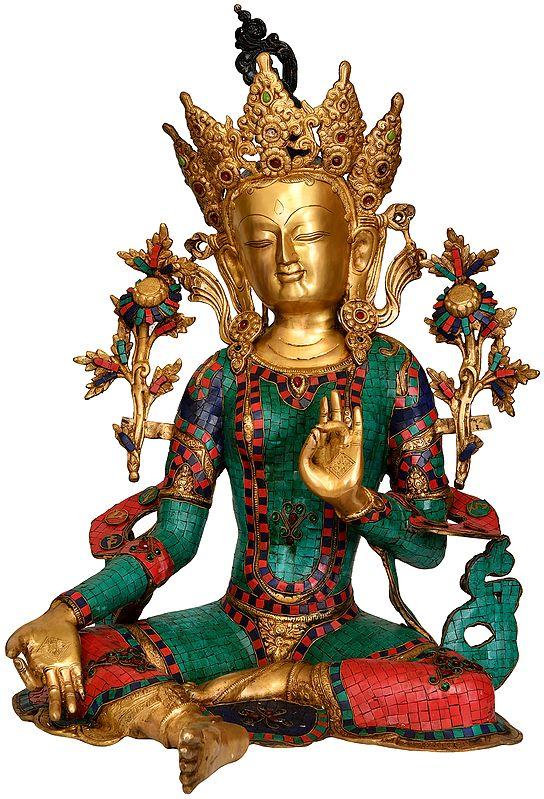 (Tibetan Buddhist Deity) Large Size Goddess Green Tara