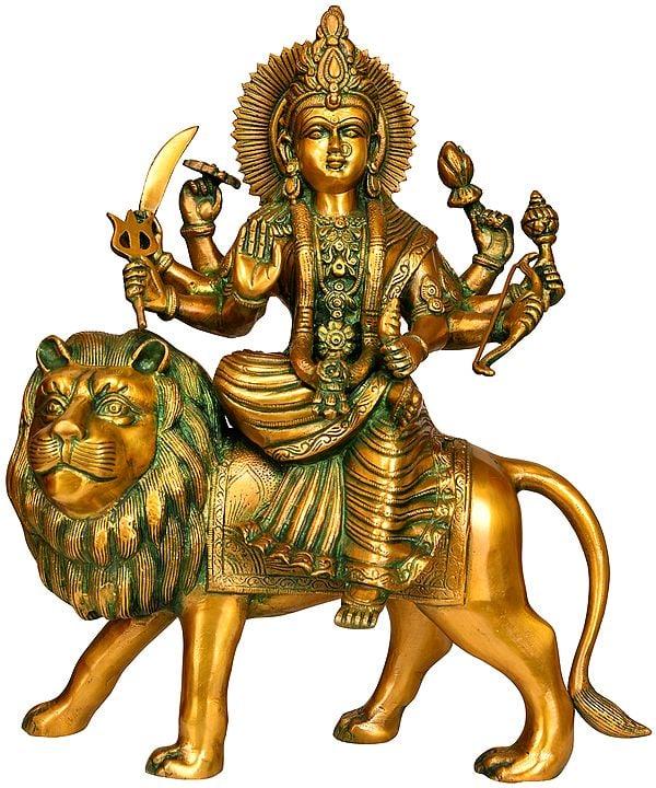 Goddess Durga Sitting on Lion