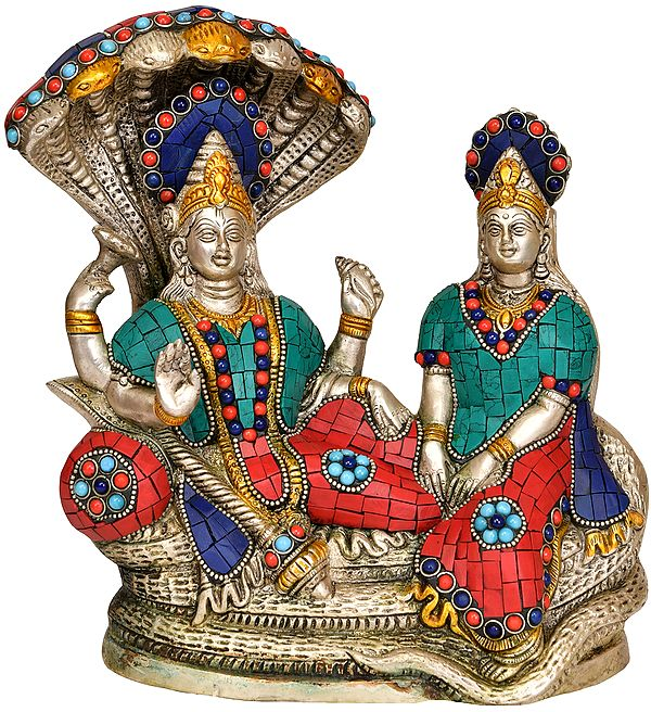 Vishnu with Lakshmi Ji on Sheshanaga