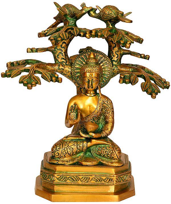 Tibetan Buddhist Deity Lord Buddha Under The Bodhi Tree