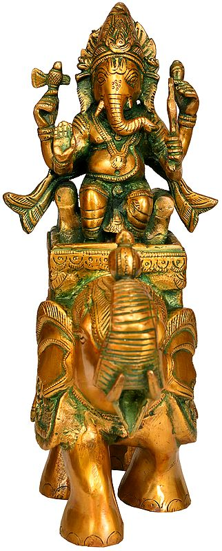 Lord Ganesha on An Elephant