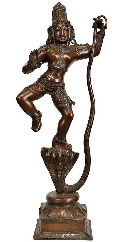 Large Size Lord Krishna Subduing Kaliya