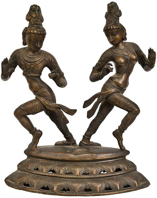 Dancing Shiva and Parvati