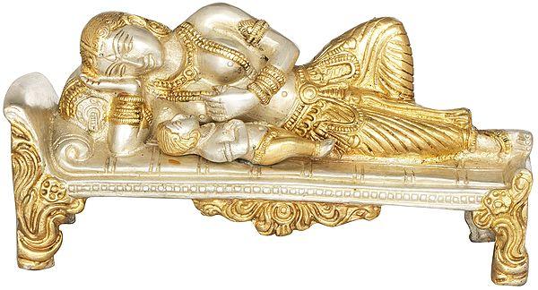 Sleeping Baby Krishna with Mother Yashoda