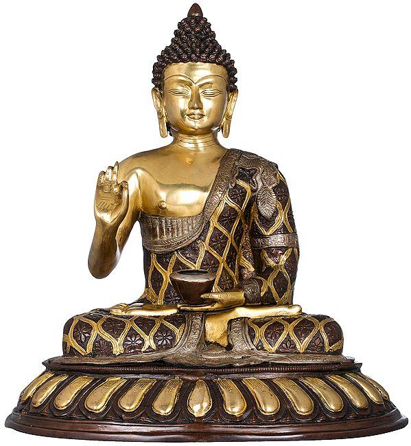 Lord Buddha in Preaching Mudra -Tibetan Buddhist
