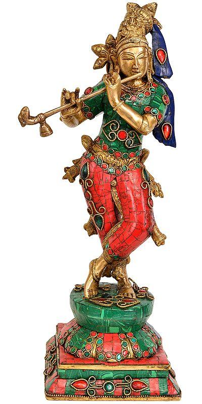 Lord Krishna Playing Flute