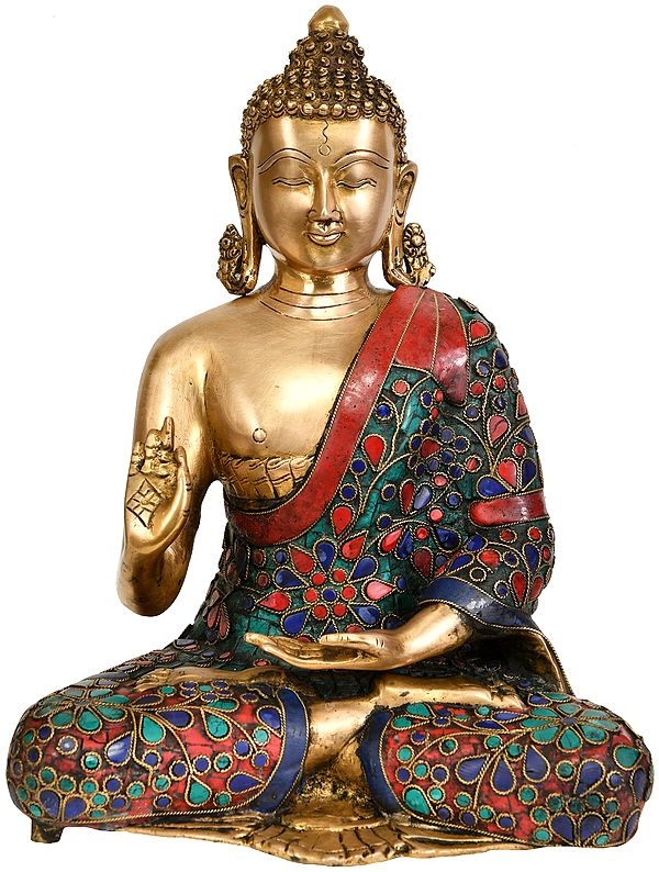 Lord Buddha Preaching His Dharma (Tibetan Buddhist Deity)