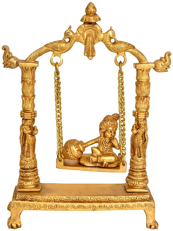 Butter Krishna on a Swing