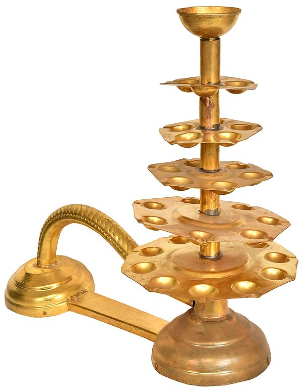 Large Size Handheld Aarti Lamp