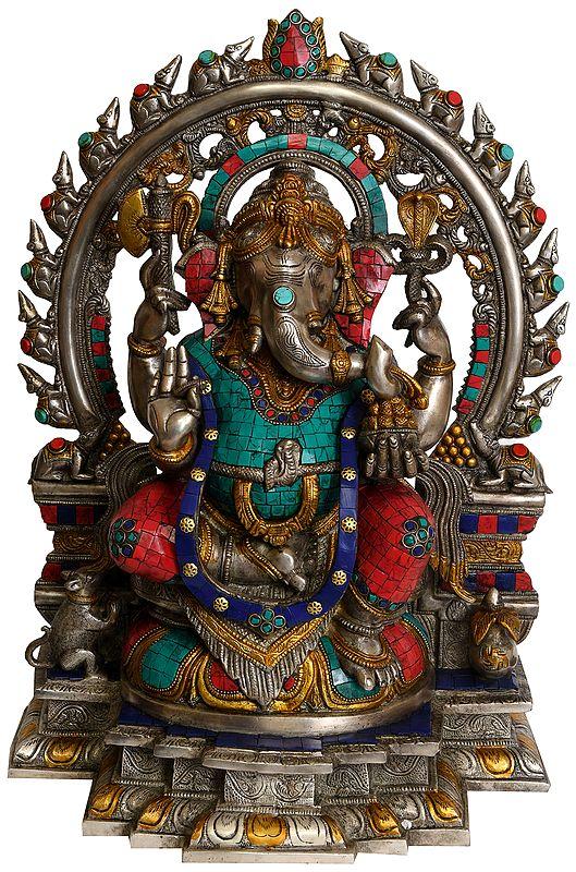 Ganesha with Aureole Made of Rats
