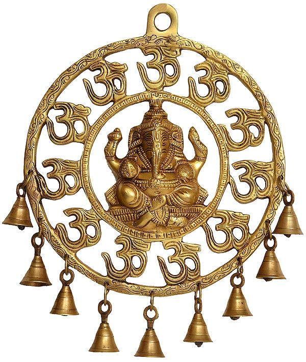 OM (AUM) Ganesha Wall Hanging with Bells