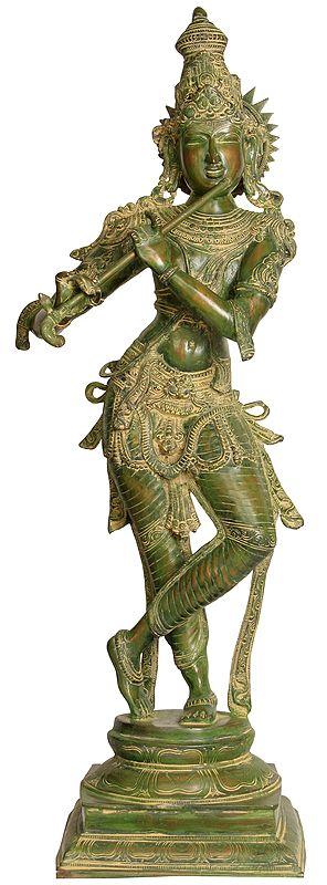 Large Size Lord Krishna Playing Flute