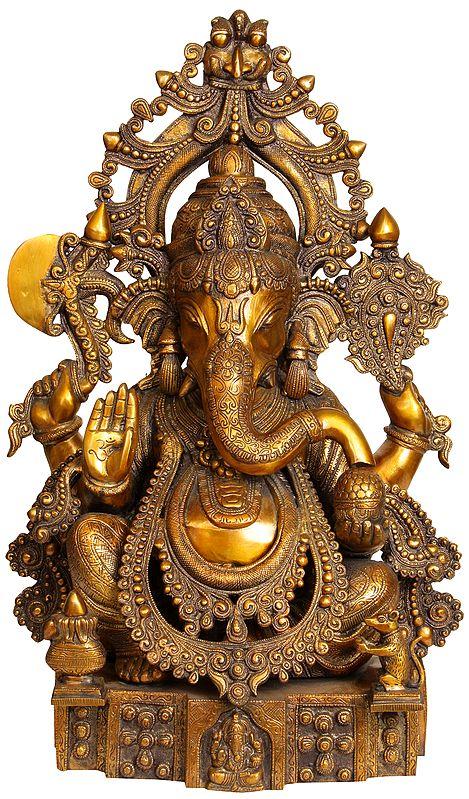 Heavily Ornamented Lord Ganesha