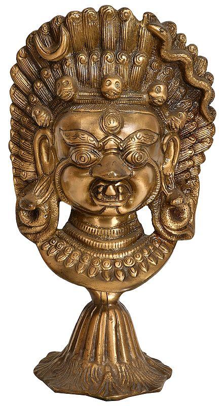 Mahakala Mask on Stand