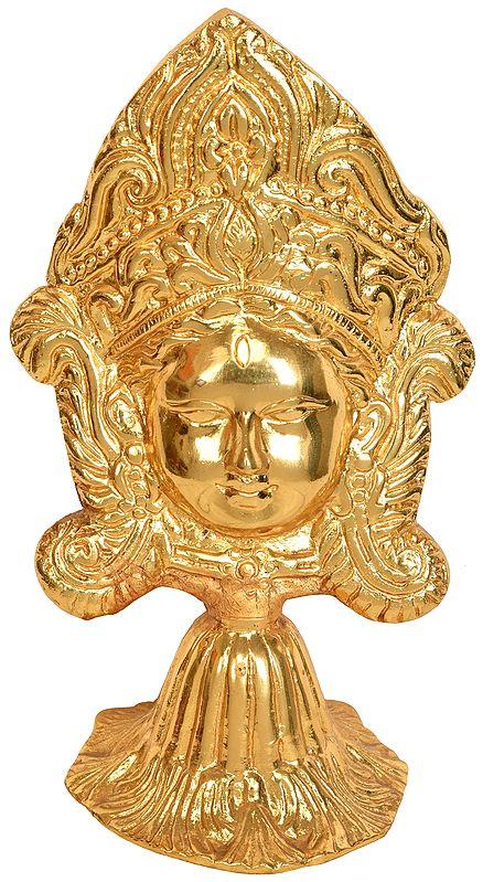 Devi Durga Head on Stand