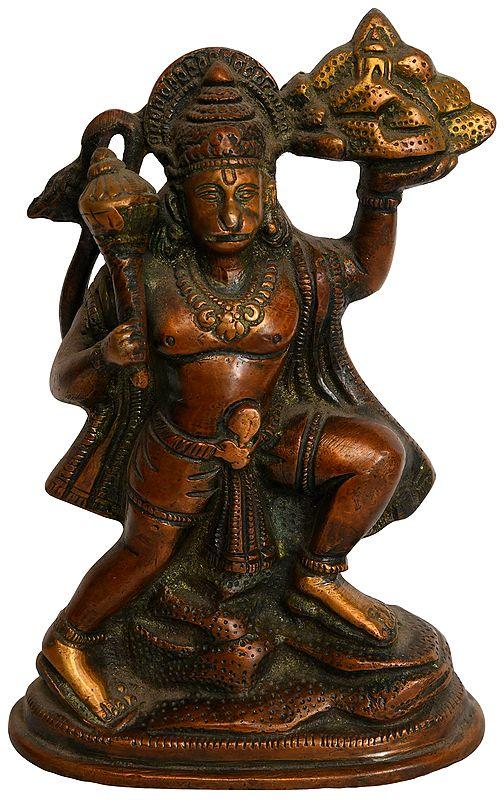Lord Hanuman Lifting Mount of Sanjivani Herbs