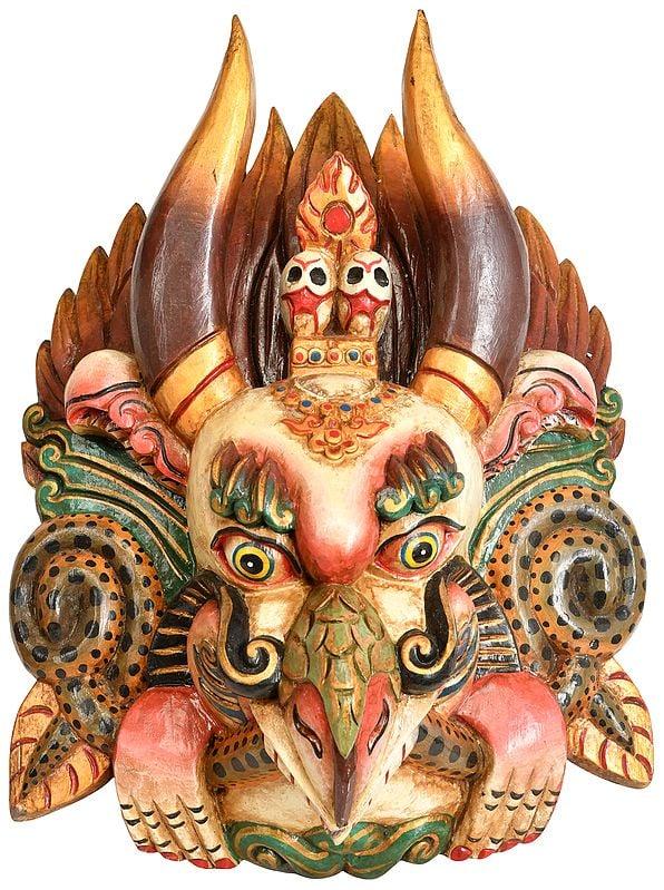 Tibetan Buddhist Garuda Mask (Made in Nepal)
