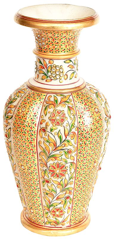 Flower Vase Decorated with Floral Motif
