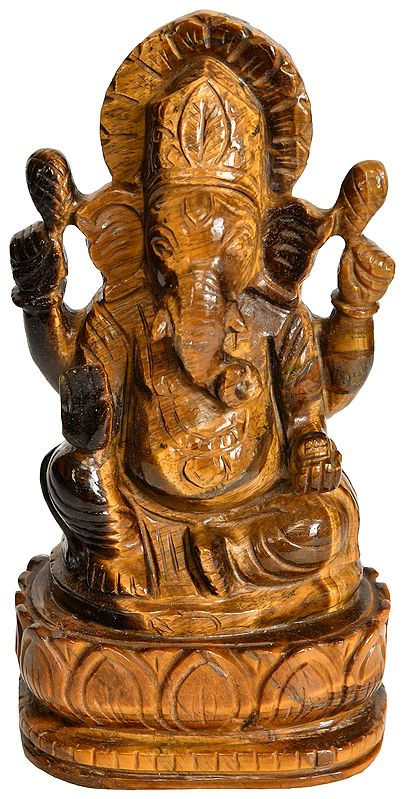 Lord Ganesha (Carved in Tiger Eye)