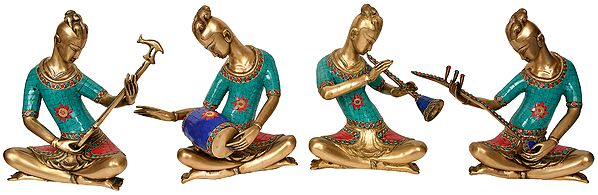 Set of Four Musician (Band of musicians)