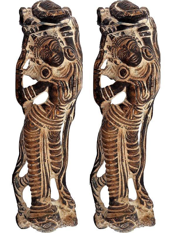 Nymph Door Handles (Sculptures Inspired by Khajuraho idiom)