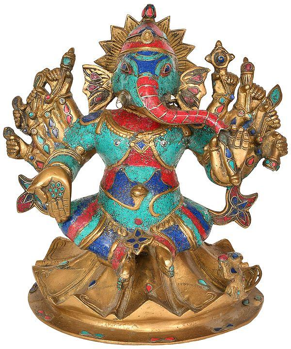 Dashabhujadhari Yoddha Ganesha