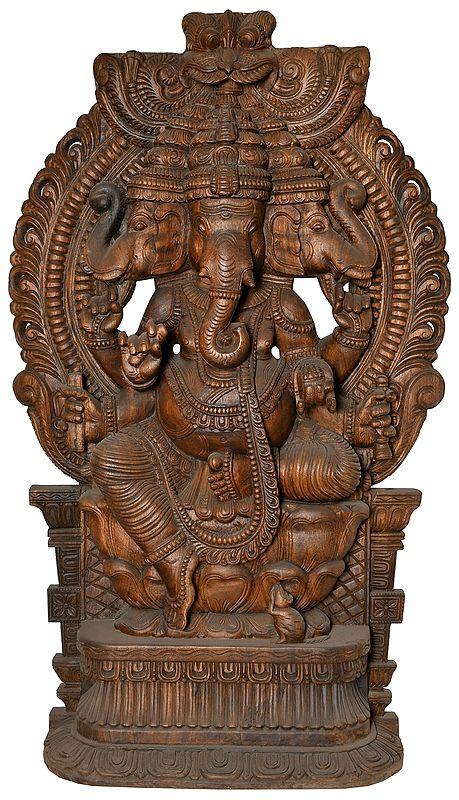 Trimukha Ganesha (Large Size)