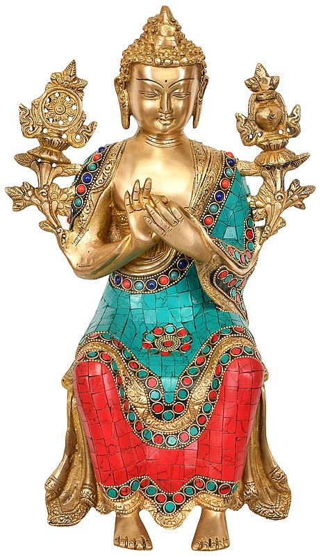 Tibetan Buddhist Deity Maitreya Buddha (To Be Seated on Edge of The Table)