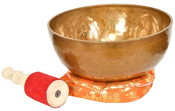 Five Dhyani Buddhas Singing Bowl (Tibetan Buddhist)