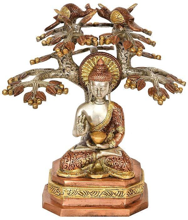 Lord Buddha Preaching Under The Bodhi Tree (Tibetan Buddhist)