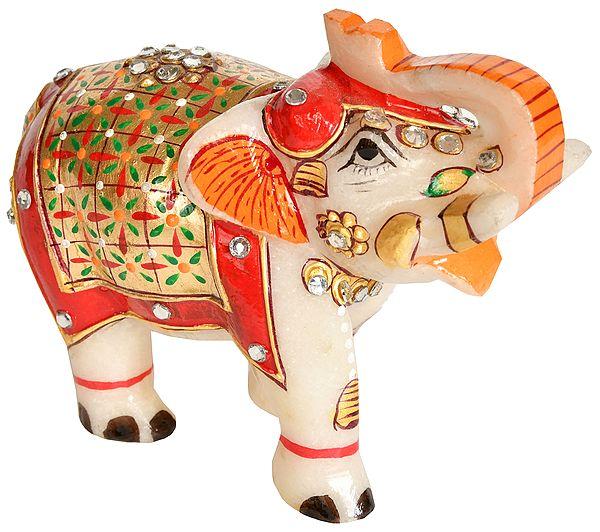 Elephant with Upraised Trunk