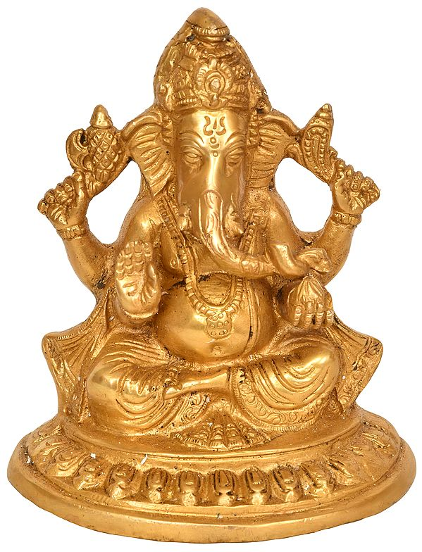 Bhagawan Ganesha in Ashirwad Mudra