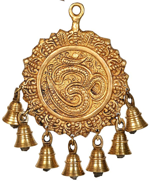 OM (AUM) Wall Hanging with Bells
