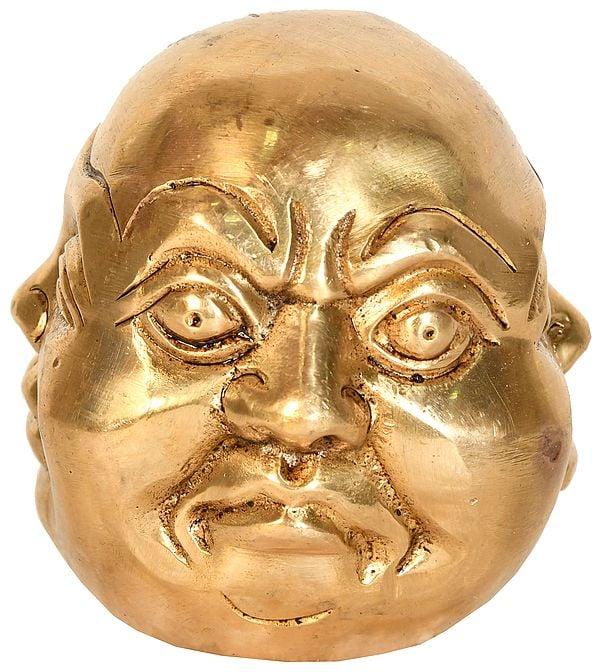 Four Faced Head of Laughing Buddha (Tibetan Buddhist)