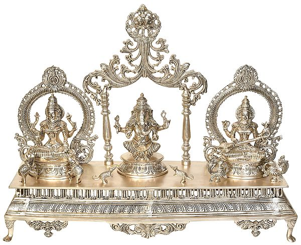The Great Trinity of Lakshmi, Ganesha and Saraswati
