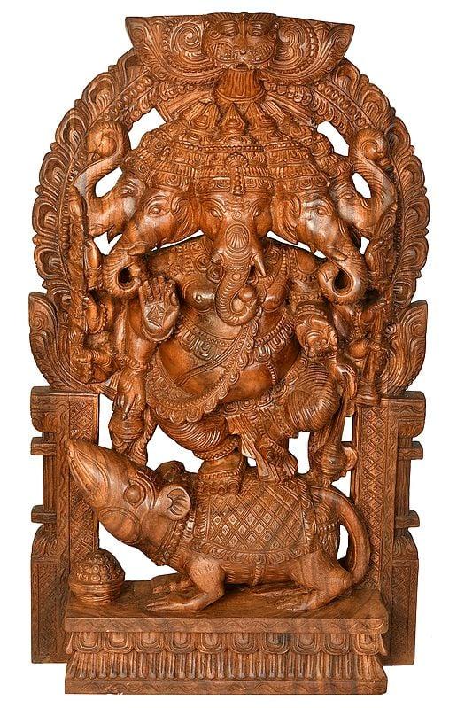 Panchamukha Dancing Ganesha (Large Size)