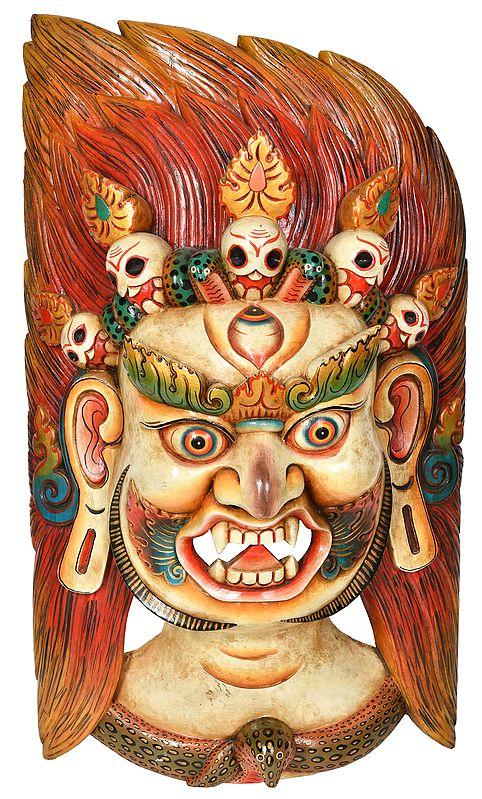 Tibetan Buddhist - Large Size Mahakala Mask (From Nepal)
