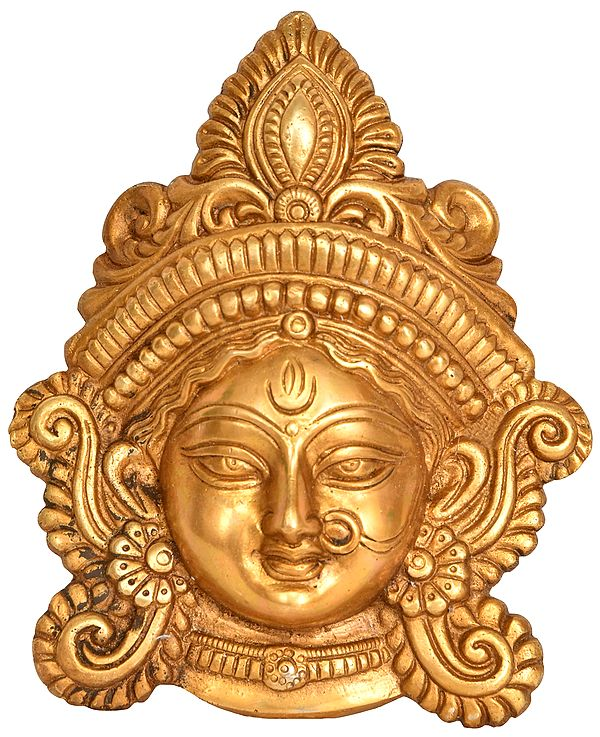 Goddess Durga Wearing A Nose ring - Wall Hanging Mask