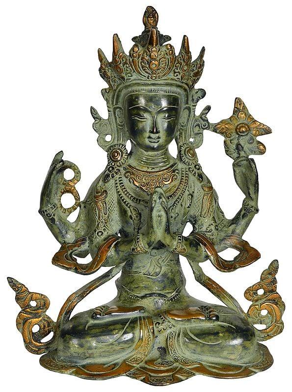 Chenrezig - Four Armed Avalokiteshvara (Tibetan Buddhist Deity)
