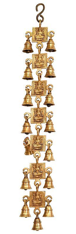 Goddess Lakshmi Wall Hanging Bells