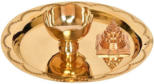 Puja Thali for Worshipping Shri Yantra