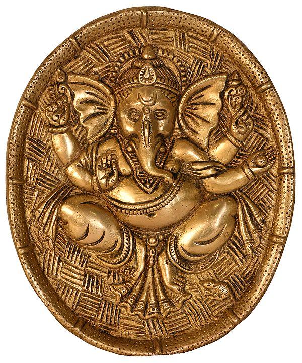 Blessing Ganesha Wall Hanging Plate