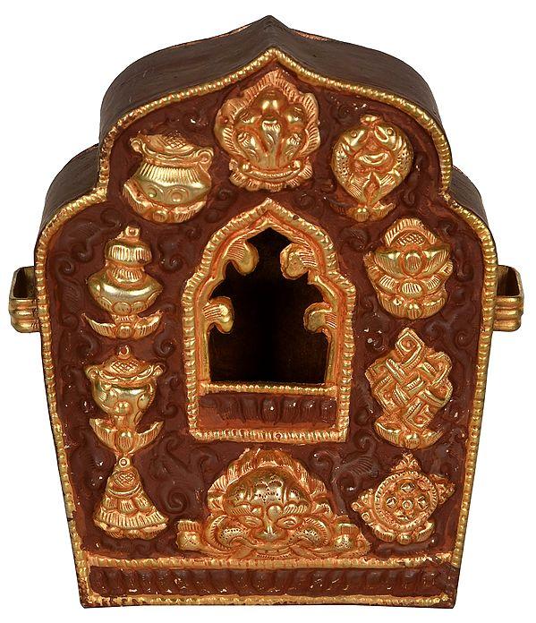 Made in Nepal Tibetan Buddhist Gau Box (Portable Shrine)