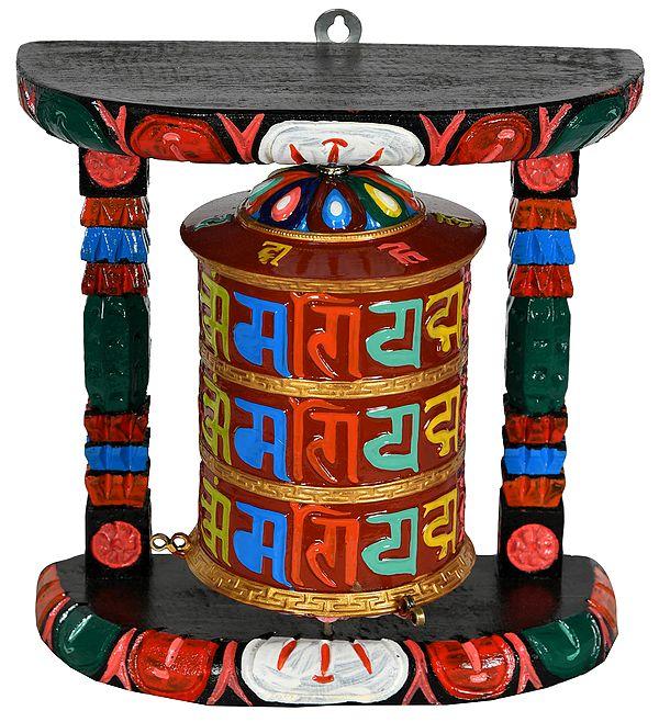 Tibetan Buddhist Prayer Wheel from Nepal
