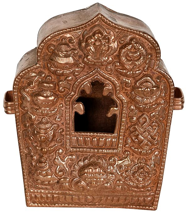 Made in Nepal Gau Box (Tibetan Buddhist Portable Shrine)