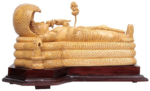 Sheshashayi Vishnu Touching the Shiva Linga