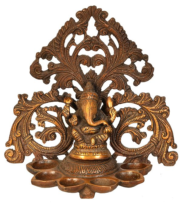 Lord Ganesha Wick Lamp