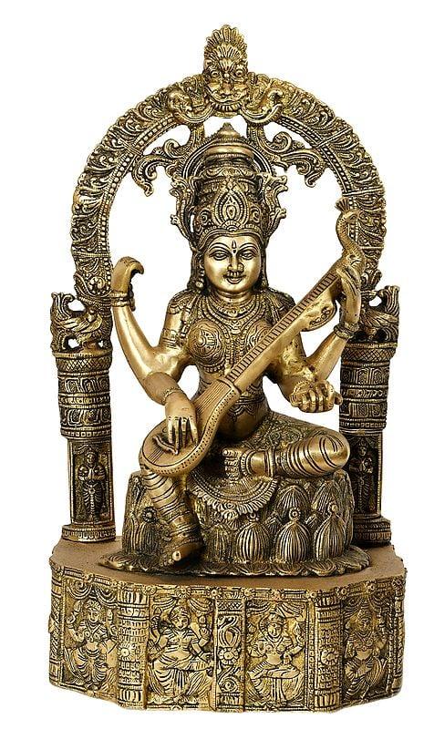 The Beauty Of Devi Sarasvati