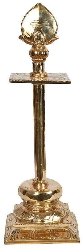 Large Size Bronze Vel of Karttikeya on Stand