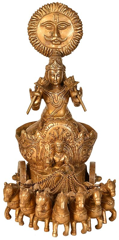 Surya - The Sun God on His Seven Horse Chariot
